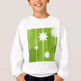 Blumenstruktur Sweatshirt