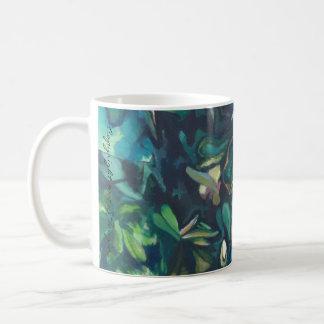 BlumenTasse der tropischen Magnolien-Keramik Tasse