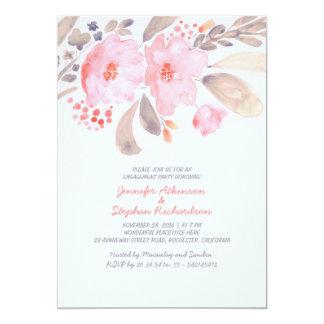Blumenwatercolor-Verlobungs-Party Einladungen