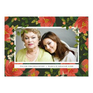 Blumenweihnachtskarte 12,7 X 17,8 Cm Einladungskarte