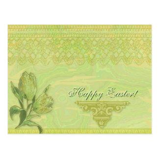 Blumige Collagen-Postkarte Postkarte