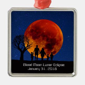 Blut-Mond-Mondfinsternis 2018 Silbernes Ornament