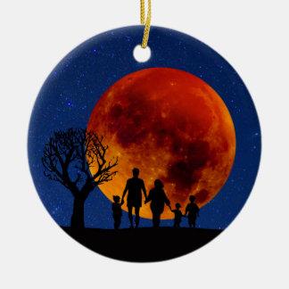 Blut-Mond-Mondfinsternis Keramik Ornament