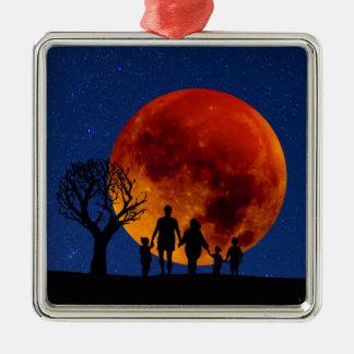 Blut-Mond-Mondfinsternis Silbernes Ornament