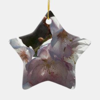 Blüten der Mammas Kirsch Keramik Stern-Ornament