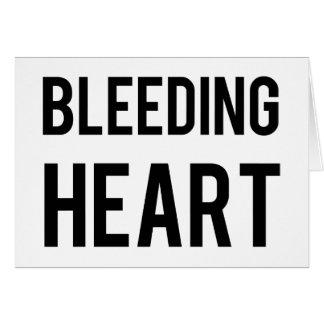 Blutendes Herz Karte