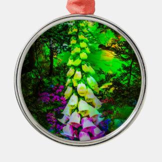 Blütenträume Silbernes Ornament