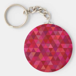Blutige Dreiecke Standard Runder Schlüsselanhänger