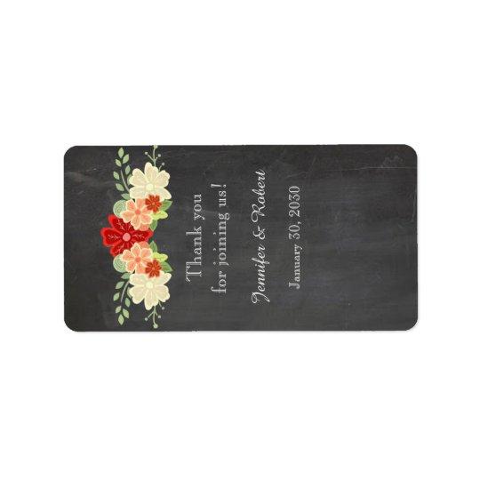 Blutorange-Tafel-Hochzeits-Lippenbalsam-Aufkleber Adressetikett