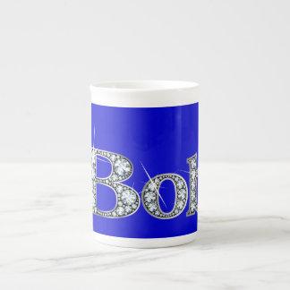 "Bob-""Diamant Bling"" Knochen-China-Tasse Porzellan-Tassen"