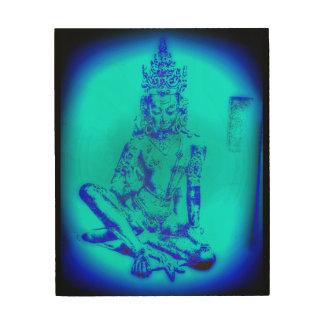 Bodhisattva Holzleinwand