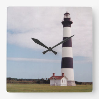 Bodie-Insel-Leuchtturm Quadratische Wanduhr