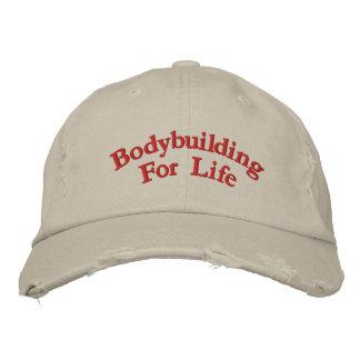 Bodybuilding für das Leben Bestickte Baseballkappe