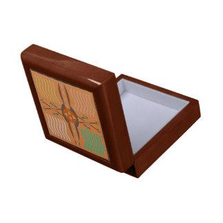 Bogen-und Pfeil-Holz-Geschenkboxen mit Fliese Geschenkbox