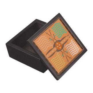 Bogen-und Pfeil-Holz-Geschenkboxen Schmuckkiste