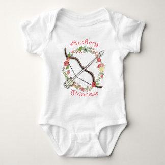 Bogenschießen-Blumen-Prinzessin Babybody