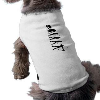 Bogenschießen-Evolution eines Bogenschießen-Bogens Ärmelfreies Hunde-Shirt