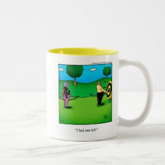 Bogenschießen-Spaß-Tassen-Geschenk Zweifarbige Tasse