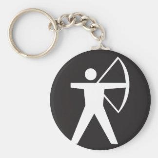 Bogenschießen-Symbol Keychain Standard Runder Schlüsselanhänger