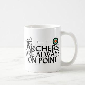 Bogenschützen sind immer im Punkt Tasse