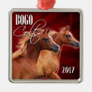 BOGO sprengte Verzierung 2017 Silbernes Ornament