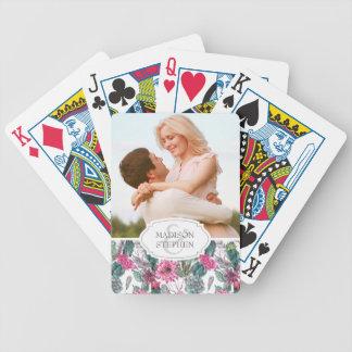 Böhmisches saftiges u. mit Blumen - Hochzeits-Foto Poker Karten