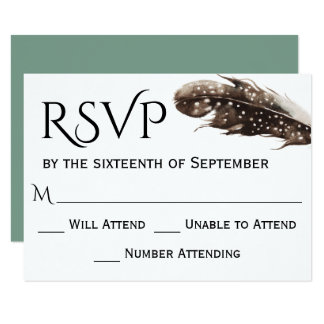 Boho Artwatercolor-Hochzeit UAWG 8,9 X 12,7 Cm Einladungskarte