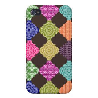 Boho Basar-magisches Teppich-Mosaik Etui Fürs iPhone 4