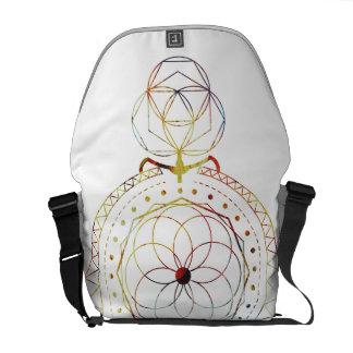 Boho inspirierte heilige Geometrie-Bote-Tasche Kuriertaschen