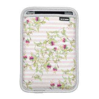 Boho rosa Blumenmuster iPad Minivertikale Sleeve Für iPad Mini