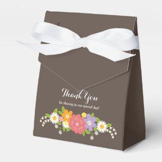 Boho rustikale BlumenKranz-Hochzeit Geschenkkarton