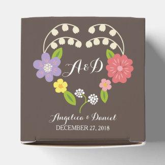 Boho rustikale BlumenKranz-Hochzeit Geschenkkartons