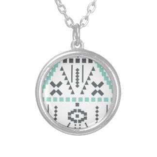 Boho Totem, ethnisches Symbol, Hippie, Azteke, Halskette Mit Rundem Anhänger