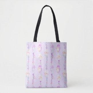 Boho versieht Perlen lila Watercolor-Kunsttasche