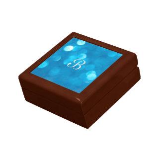 Bokeh Blau-Geschenkboxen Kleine Quadratische Schatulle