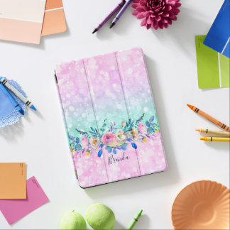 Bokeh Glitzer u. bunter Blumen-Blumenstrauß iPad Pro Cover