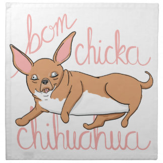 Bom Chicka Chihuahua-lustiges Hundewortspiel Stoffserviette