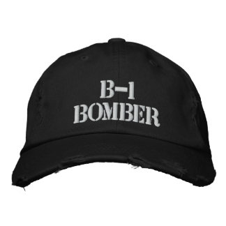 BOMBER B-1 BESTICKTE BASEBALLKAPPE
