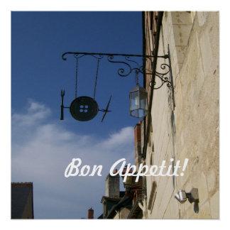 Bon Appetit!  Gerät-Café unterzeichnen herein Poster