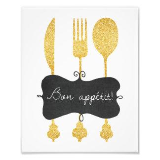 Bon Appetit Gerät-Tafel-Foto-Druck Fotodruck