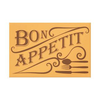 Bon Appetit Zitatentwurf Gespannte Galerie Drucke