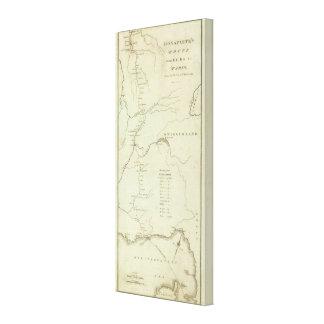 Bonapartes Weg von Elba nach Paris Galerie Faltleinwand