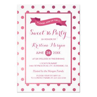Bonbon 16 Geburtstags-Girly rosa 12,7 X 17,8 Cm Einladungskarte