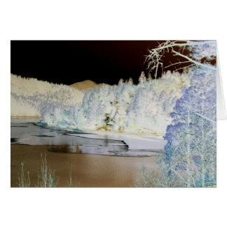 Bonito See, Winterszene, wandelte Farbe um Karte