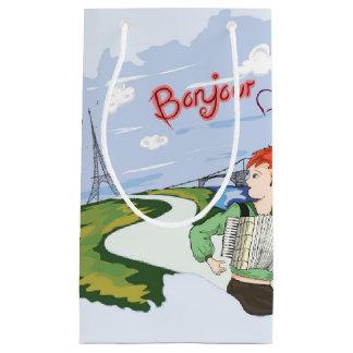 Bonjour Paris Zeichnen Kleine Geschenktüte