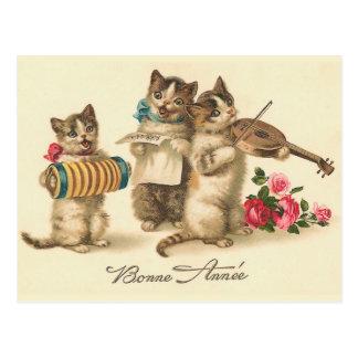 """""""Bonne Annee"""" Vintage französische neues Postkarte"""