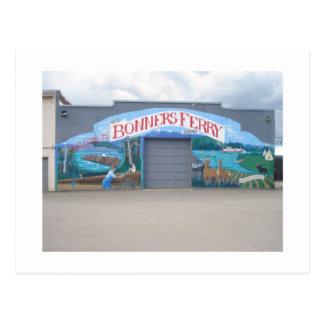 Bonners Fähre, Idaho-Wandgemälde Postkarte
