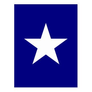 Bonnie-blauer Sumpf-Schwertlilie mit einziger Postkarte