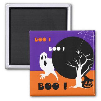 BOO! Lustige Geist-Halloween-Geschenk-Magneten Quadratischer Magnet