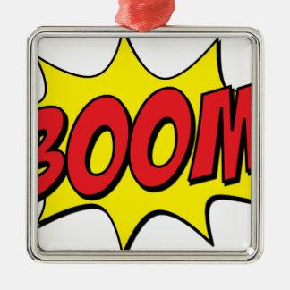 Boom-Comic Silbernes Ornament